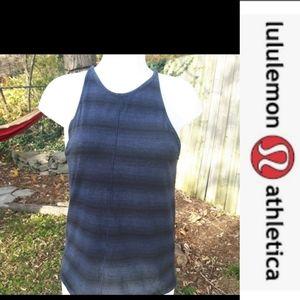 size 6 Lululemon athletic striped workout tank top